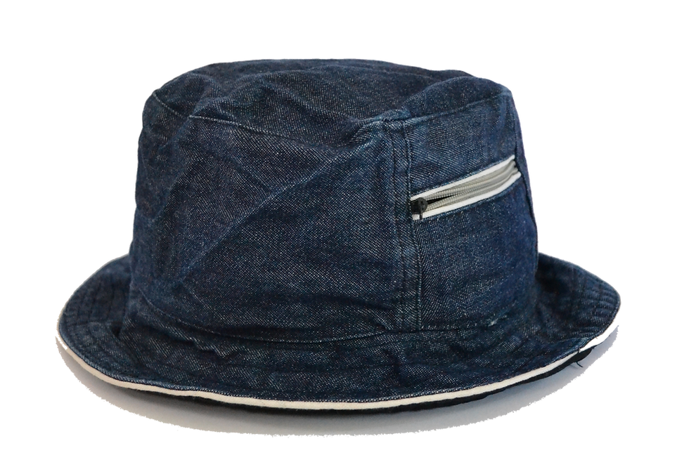 Tactical Denim Bucket Hat Zipper Pocket