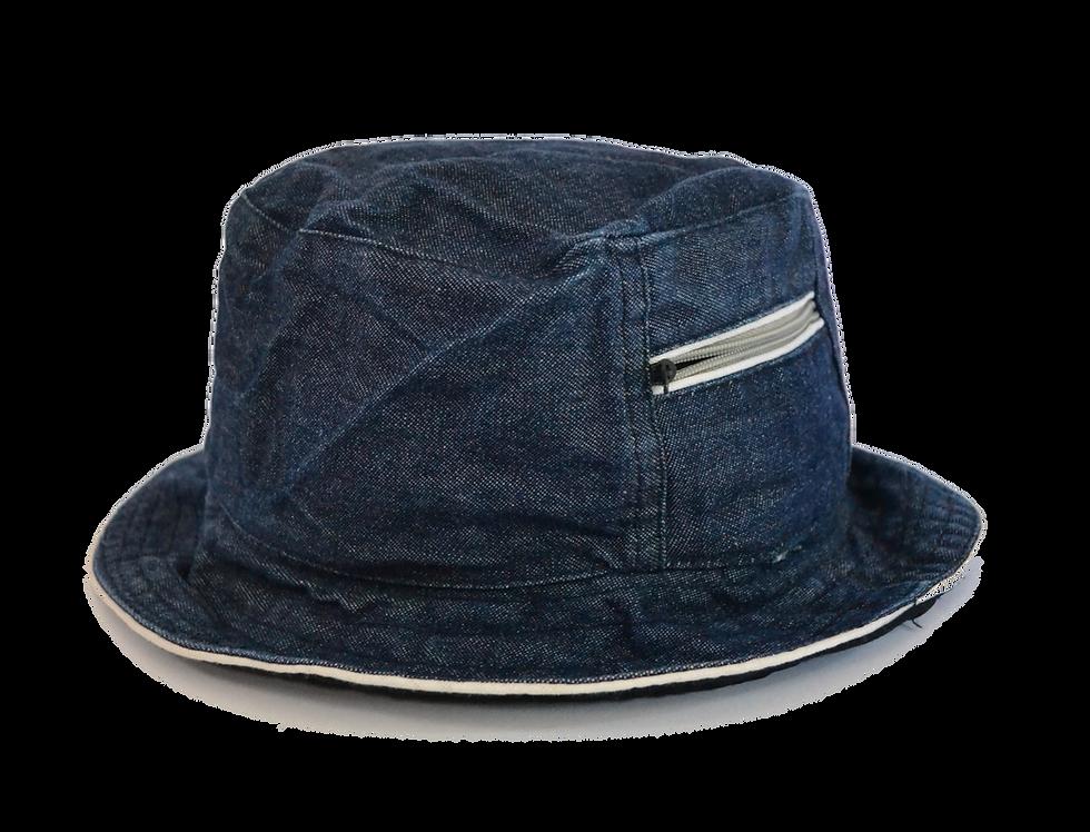 Tactical Denim Bucket Hat Zipper Pocket