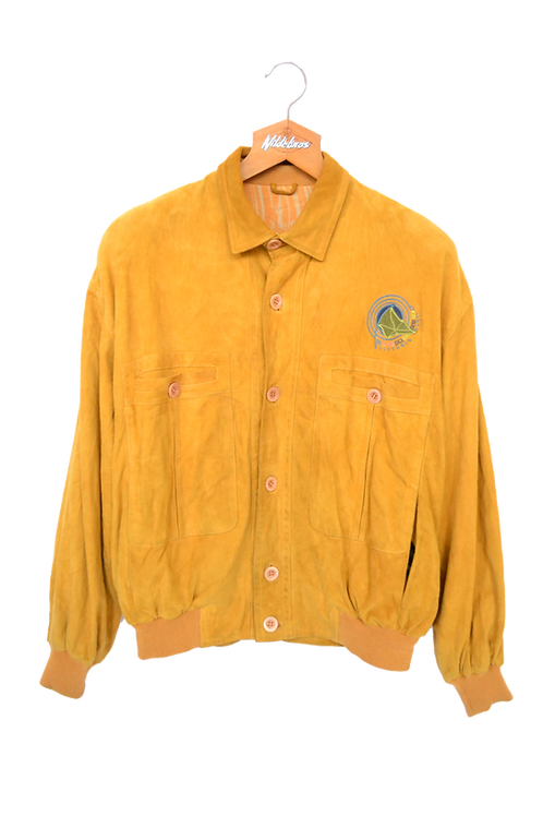 Vittorio Forti Yellow Suede Jacket M
