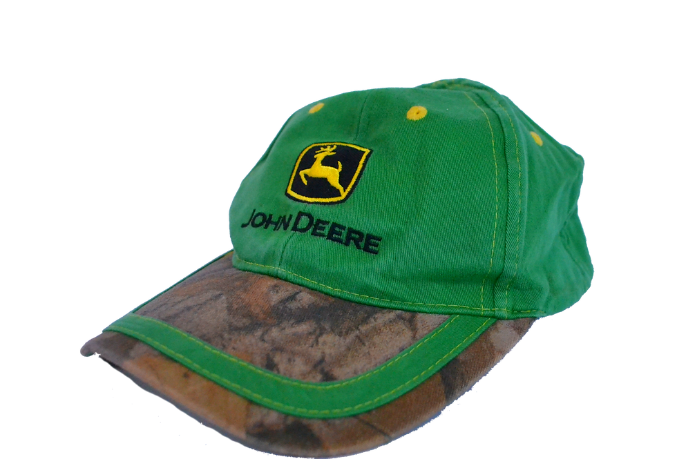 John Deere Green Camo Cap