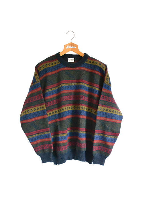 Fall Colours Knitted Jumper XL