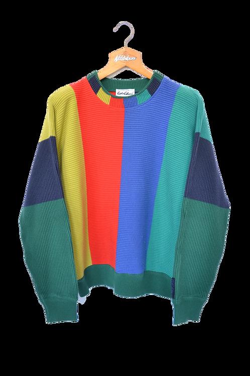 Carlo Colucci  Multi Coloured knitted Sweatshirt L