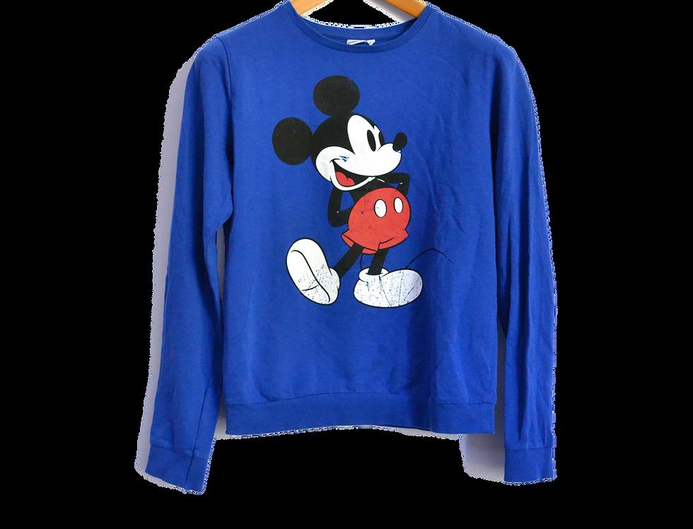 Disney Mickey Mouse Sweatshirt Blue M
