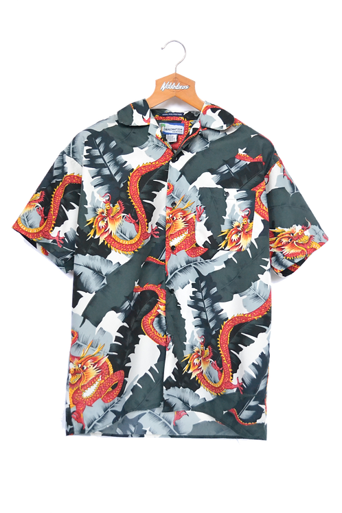 Chinese Style Dragon Graphic Shirt S