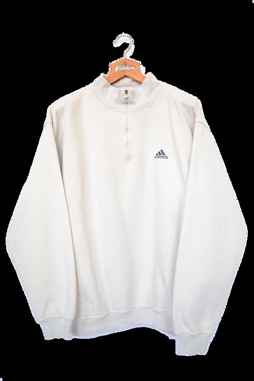 1992 Adidas off white 1/4 Zip XL