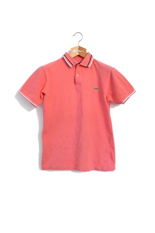 Lacoste Polo Pink Striped Collar M