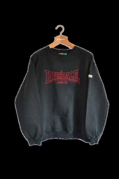 "Lonsdale ""Lonsdale Loves All Colours"" 90s Pride  Spellout Sweatshirt XL"