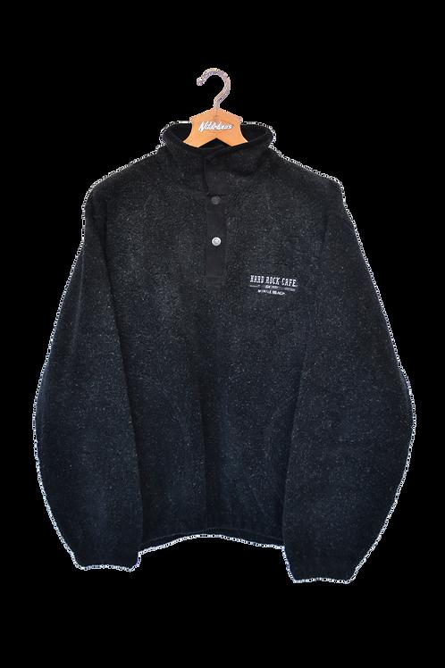 90's Hard Rock Cafe Quarter Zip Fleece XL