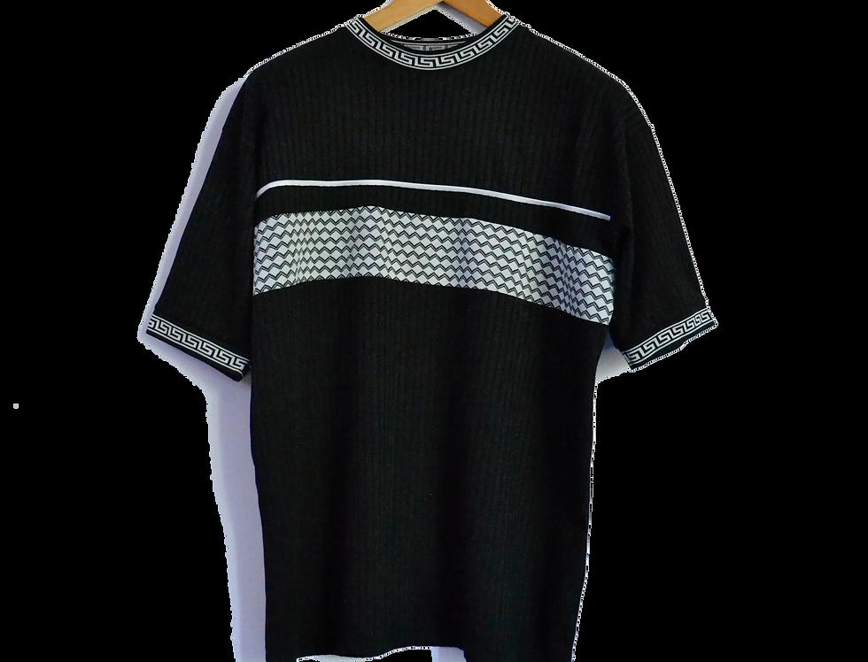 Y2K Pattern Tee Black XL