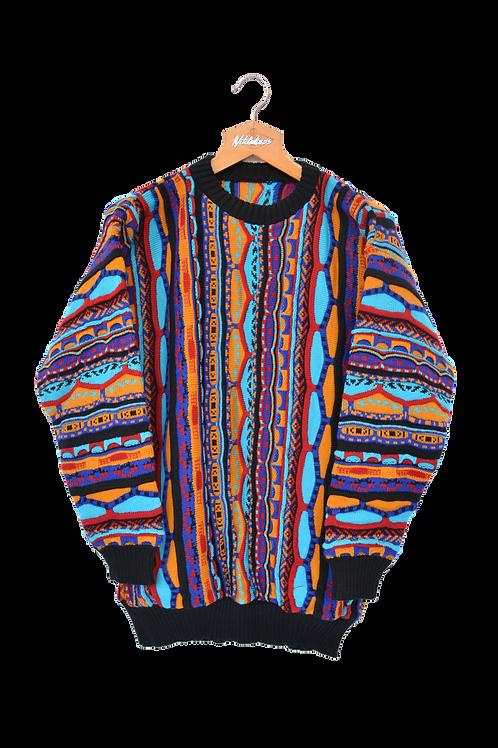 Multicolour 3D Knit Jumper M