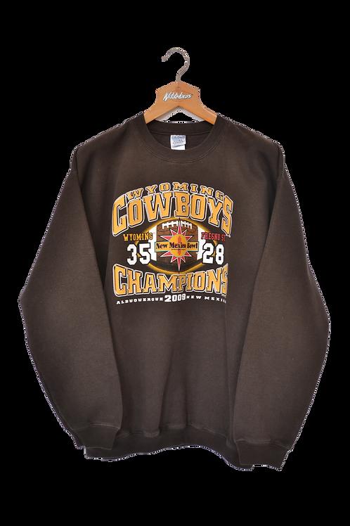Wyoming Cowboys 2009 New Mexico Bowl Champions Sweatshirt XL