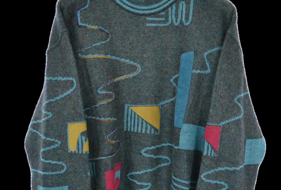 Baffo Abstract 80s Wool Jumper L