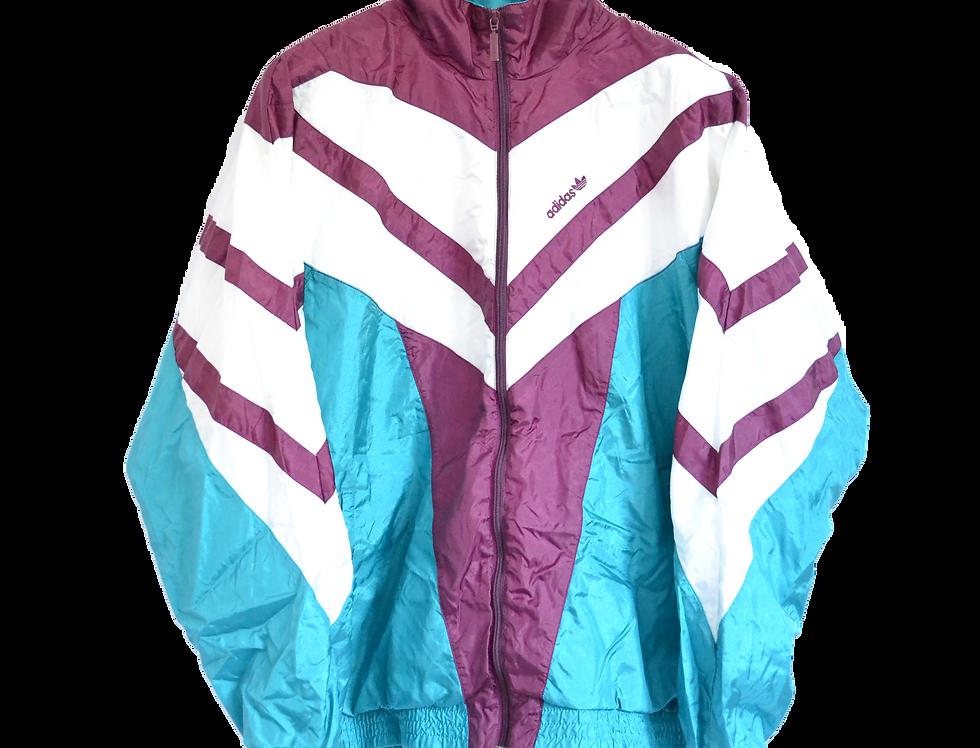 Adidas 90s Track Jacket Bordeaux/Green L