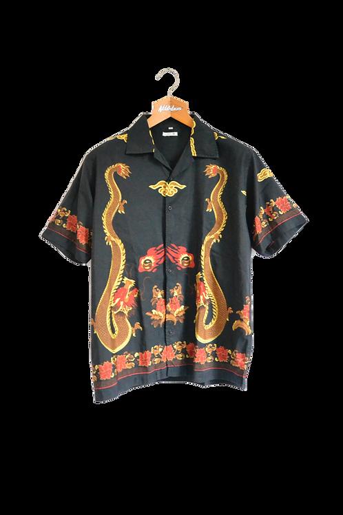 Ancient Style Dragon Graphic Shirt M