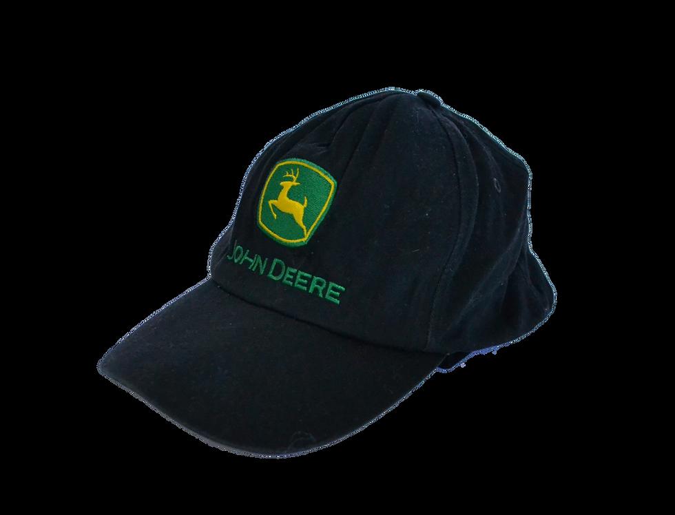 John Deere Black Logo Cap