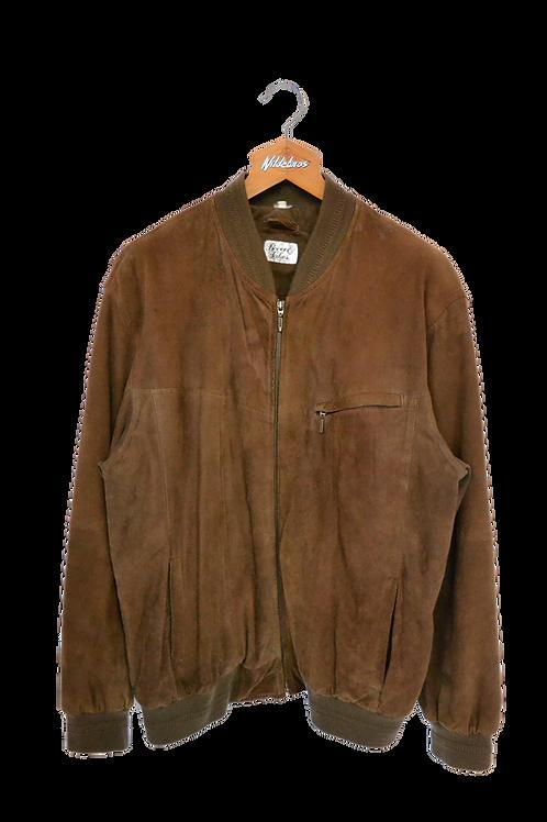 Natural Coloured Suede Jacket L