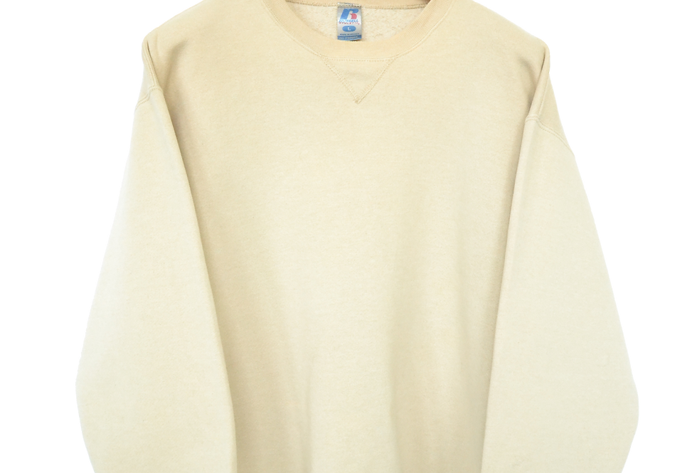 Russel Dri-power Creamy Colourblock Sweatshirt L