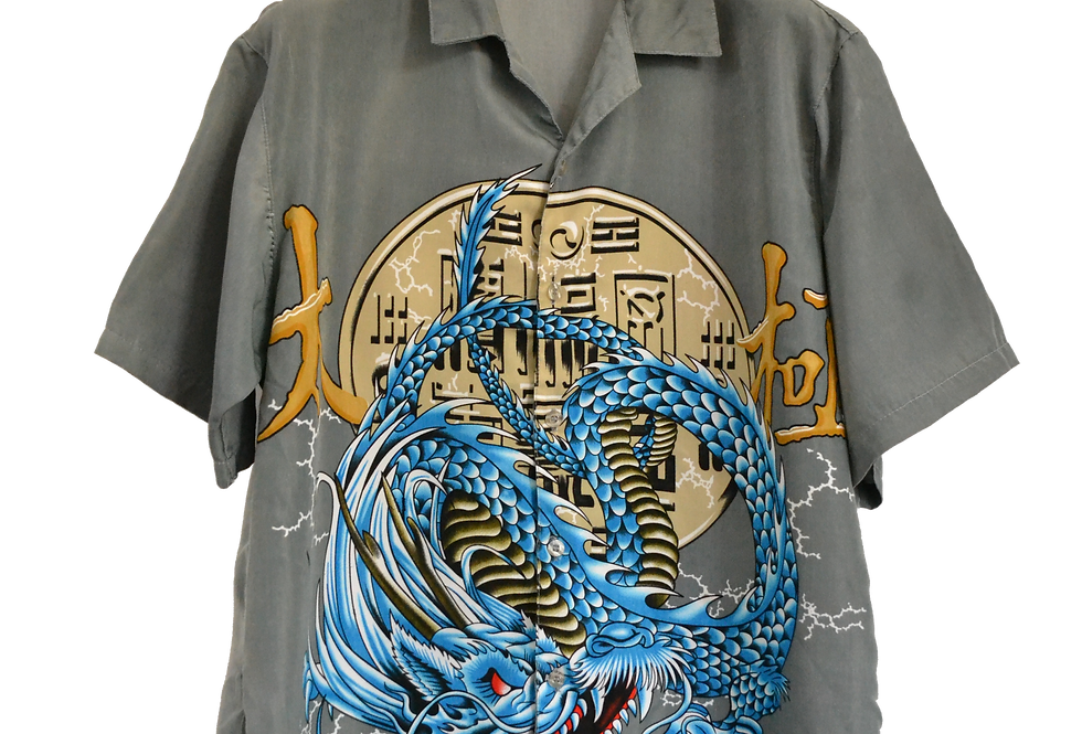 Electric Thunder Dragon Graphic Shirt L