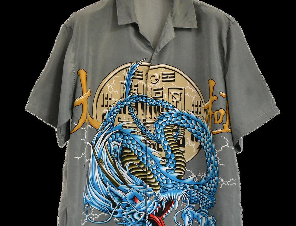 Electric Thunder Dragon Graphic Shirt L