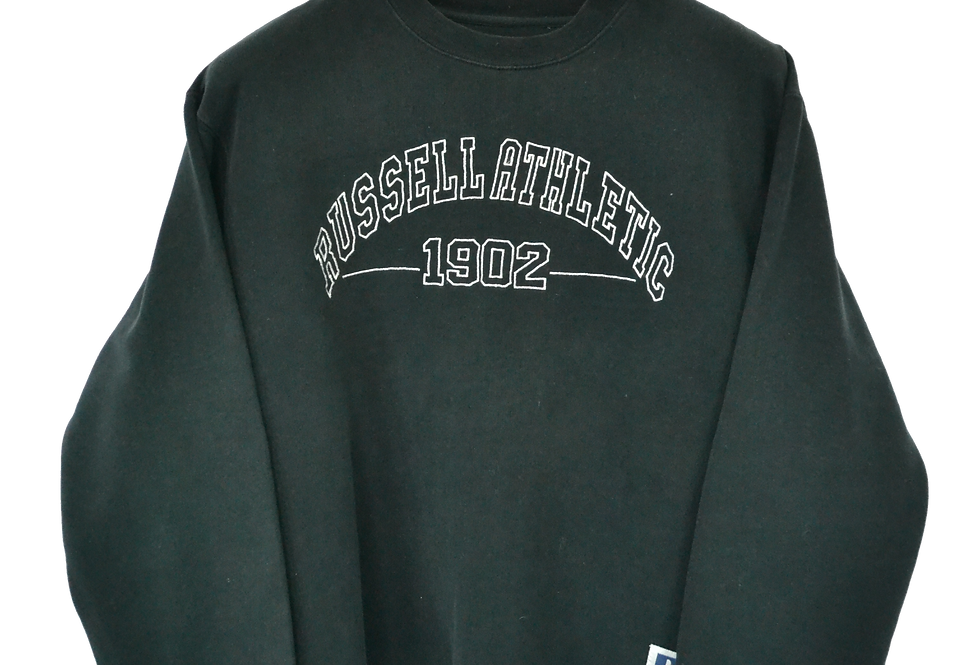 Russell Athletic 1902 Embroidered Spellout Sweatshirt M
