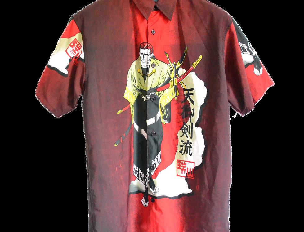 Samurai Walking on Bare Feet Graphic Shirt S