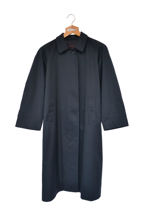 Burberrys of London Fumagalli Single Breasted Trench Coat Navy S