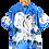 Thumbnail: Graphic Shirt Wolf  Moon Blue L