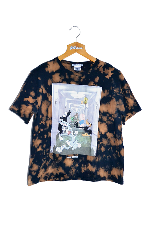 Looney Tunes Outta Control Beam-bleached Tee L