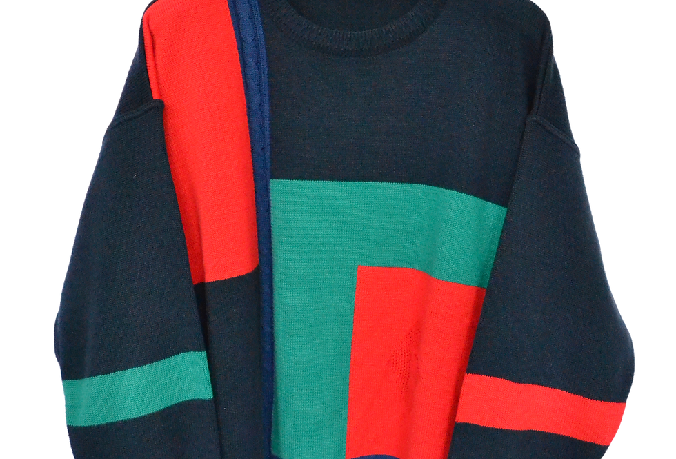Pohland Colour Blocks Knitted Jumper XL
