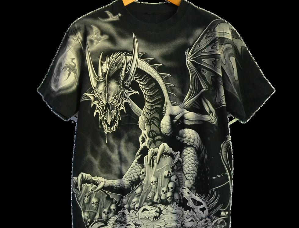 Fucking Scary Dragon Tattoo Graphic Shirt XXL