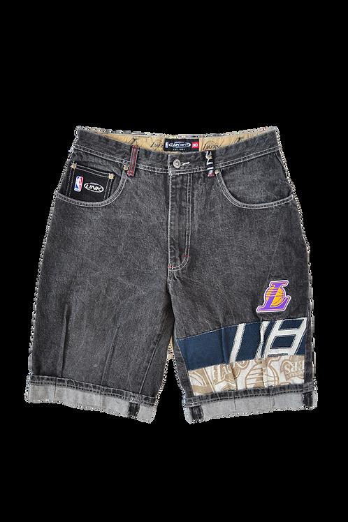 90s NBA Lakers UNK 3/4 Jean Shorts 30