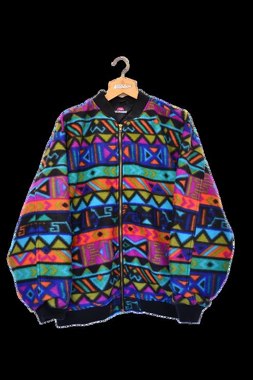 Aztec Print Fleece Jacket XXL