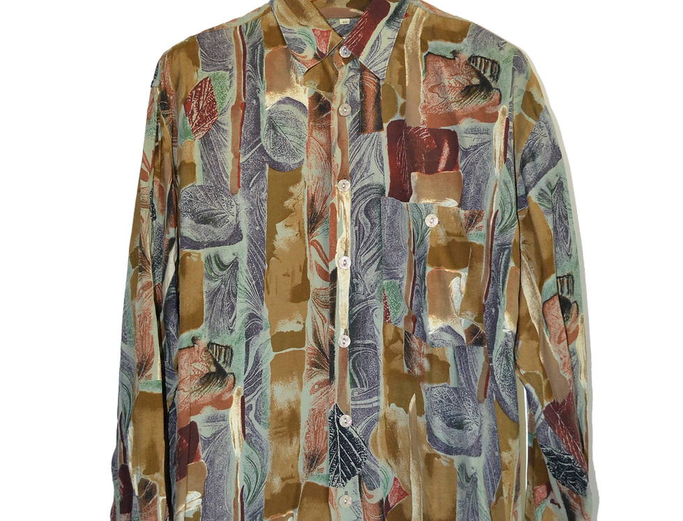 Fall Painted Leaves Shirt L