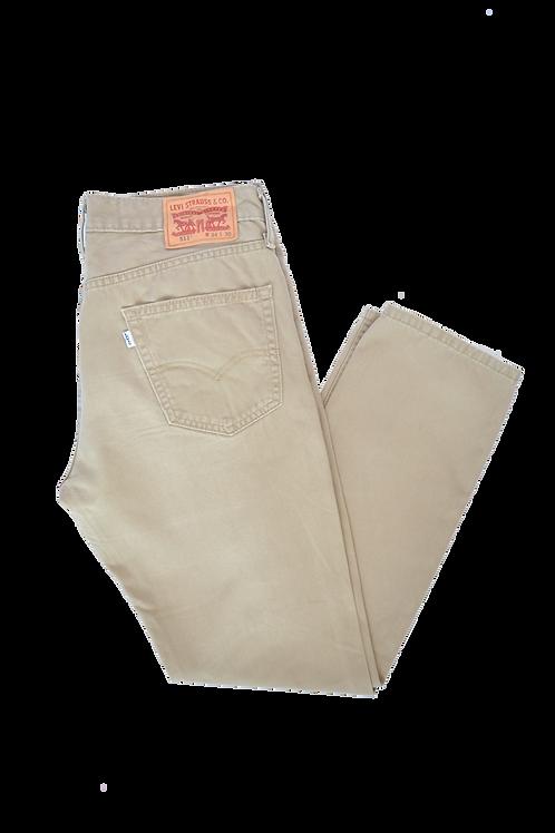"Levi's 511 ""White Tab"" Beige Jeans 34"