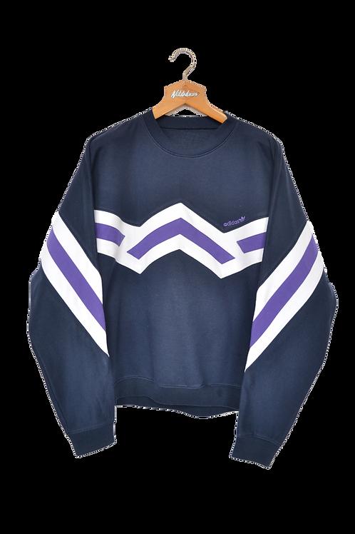 Late 80's Adidas Colourblock Sweatshirt L