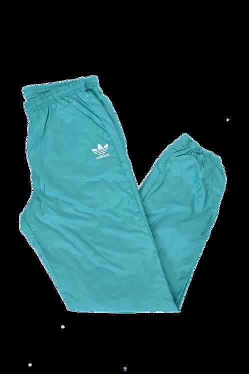 90s Adidas cyan Track pants M