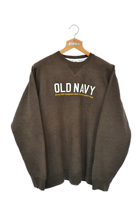 Old Navy USA Choclate Spellout Sweatshirt L