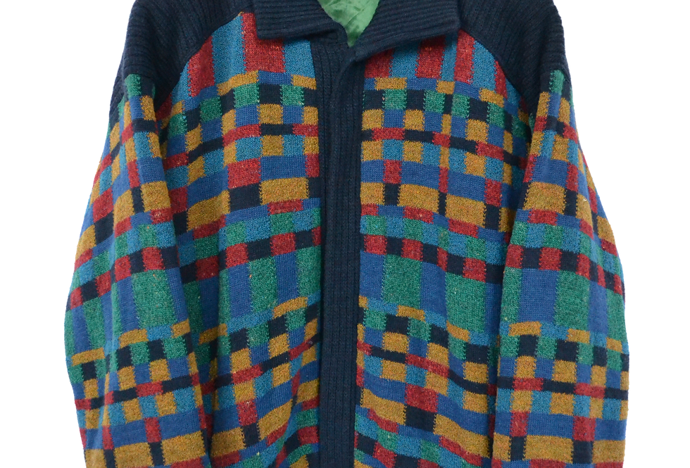 Multicoloured Wool Knitted Jacket XL