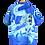 Thumbnail: Electric Blue Thunder dragon Shirt L