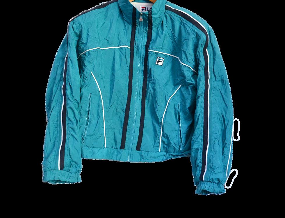 Fila Turquoise Cropped Track Jacket
