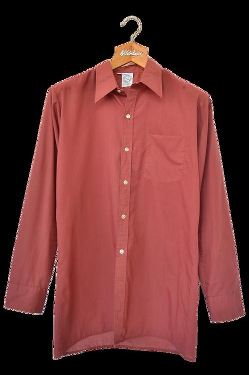 80s Point Collar Shirt Bordeaux M