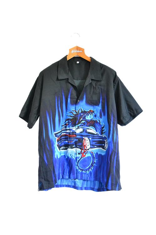 Mazda RX-7 Bosozoku Night Blue Dragon Shirt XXL