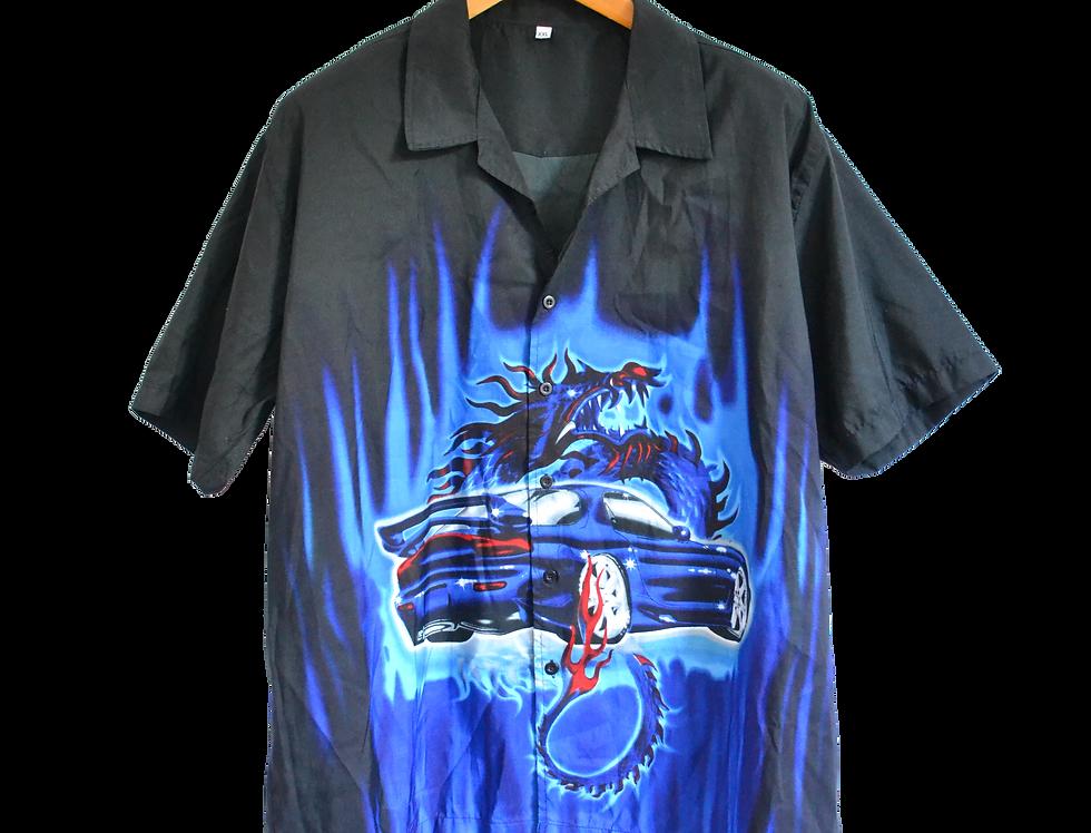 Mazda RX-7 Bosozoku Night Blue Dragon Shirt XXL