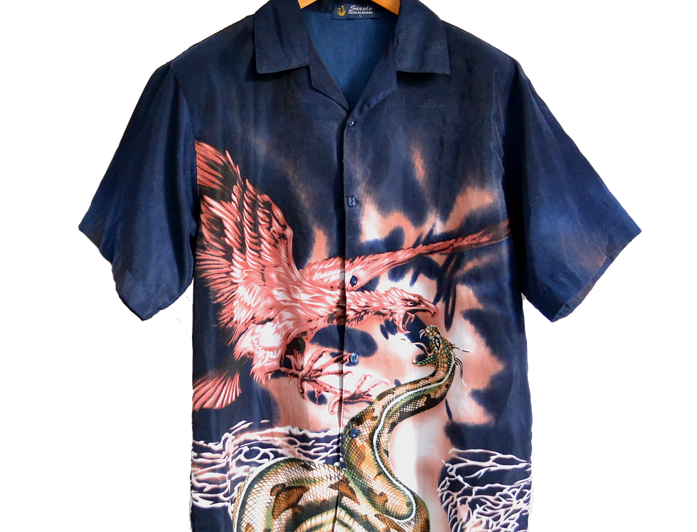 Anaconda Fighting Phoenix Graphic Shirt Midnight Blue L