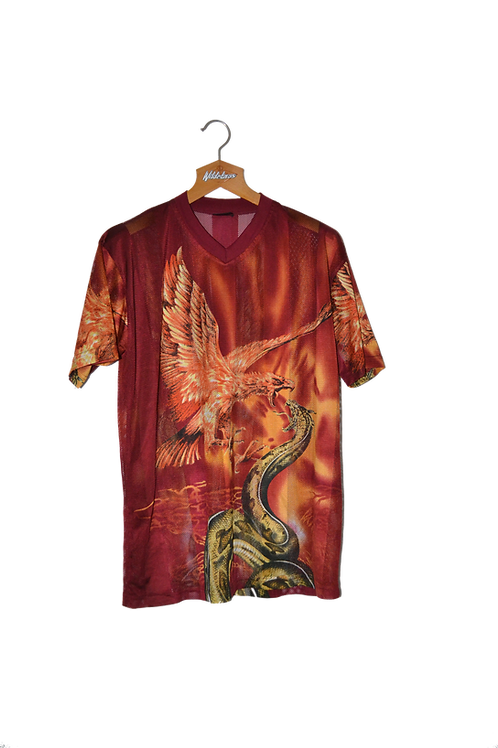 Phoenix & Snake Graphic Tee semi see-through M