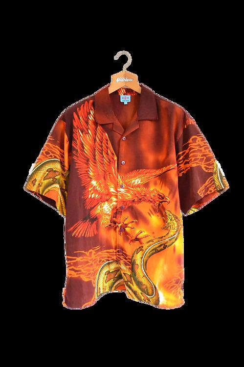 Phoenix fighting Anaconda Graphic Shirt L