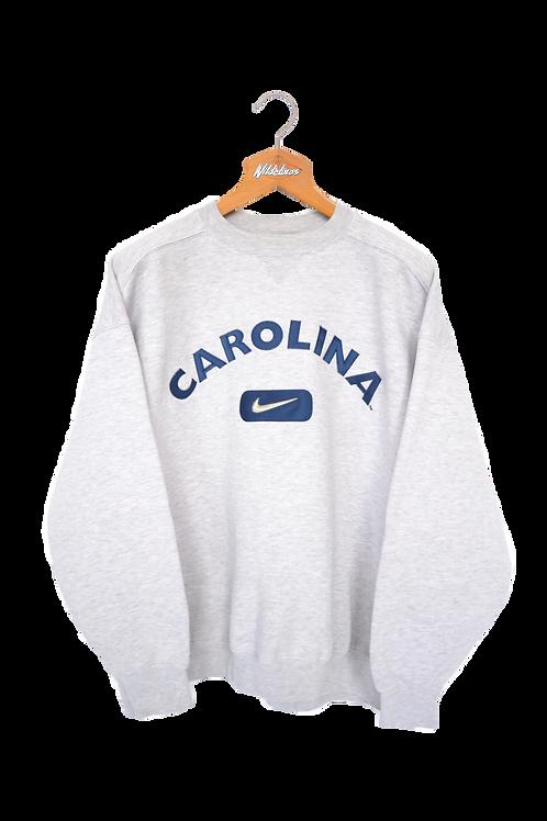 "Nike 1998 ""Carolina Swoosh"" Sweatshirt L"