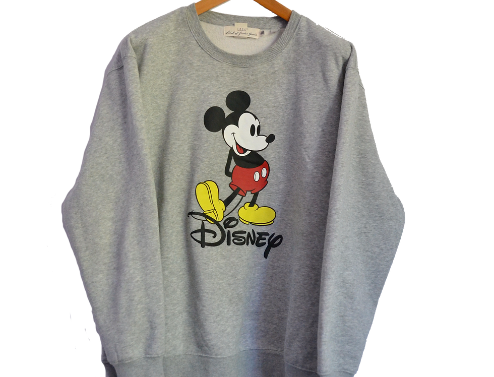 Disney Mickey Mouse Grey Sweatshirt XL