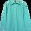 Thumbnail: 80s Pistache Point Collar Shirt M