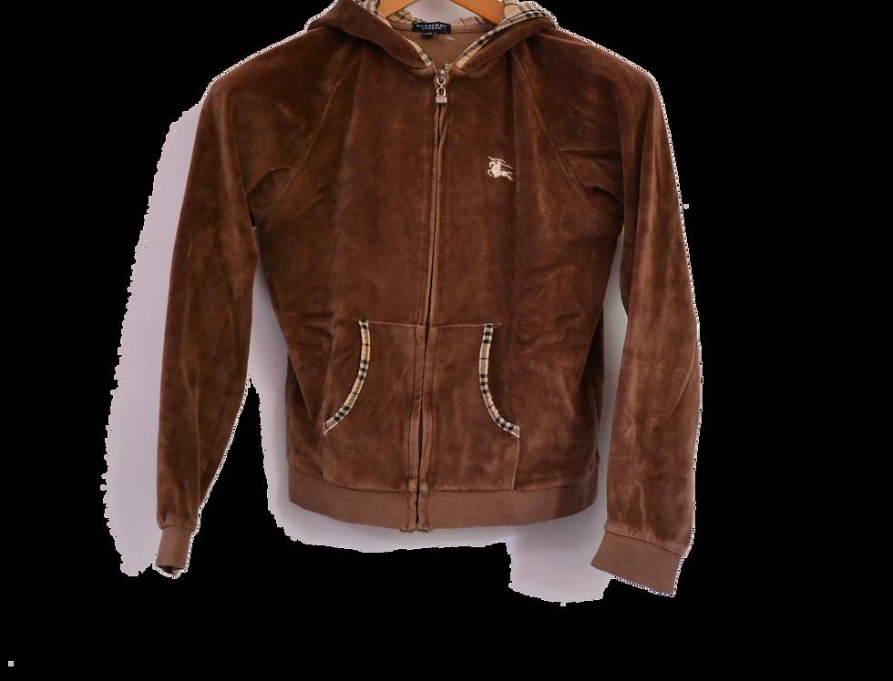 Burberry Brown Velvet Jacket XXS